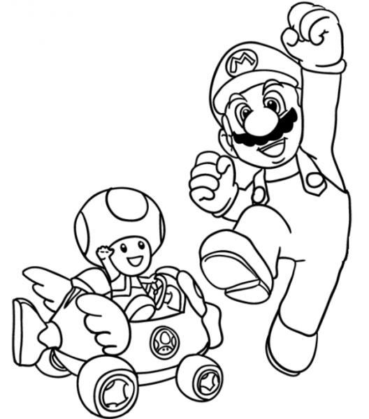 Mario Kart  16 (videojuegos) – Páginas Para Colorear
