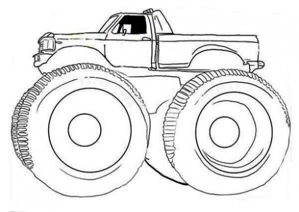 Monster Truck  104 (transporte) – Páginas Para Colorear