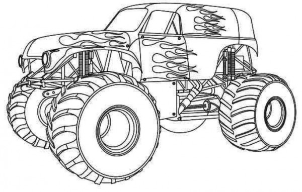 Monster Truck  55 (transporte) – Páginas Para Colorear