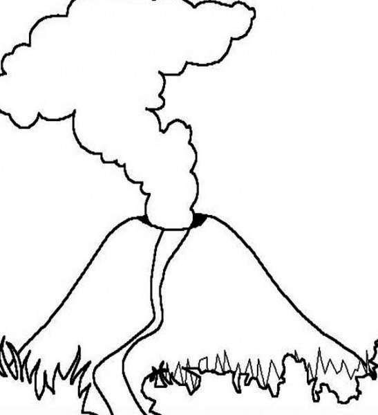 Volcán  26 (naturaleza) – Páginas Para Colorear