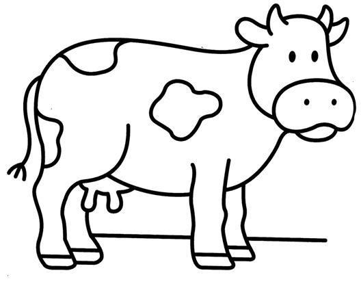 Dibujos Para Pintar Vaca
