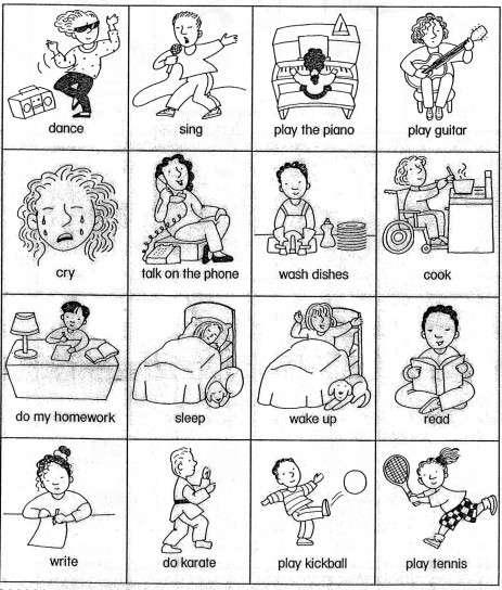 Fichas Didácticas Inglés  Fotos Fichas Para Primaria (foto)