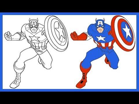 Dibujos Del Capitan America Para Colorear