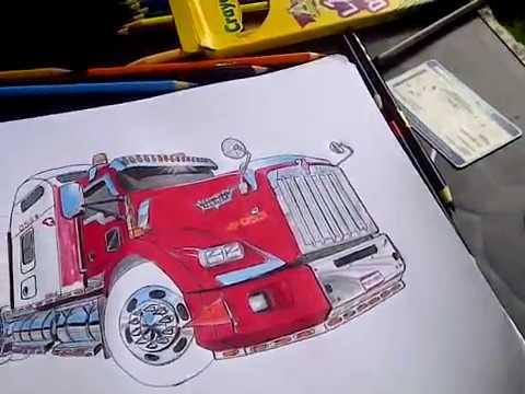 Dibujando Kenworth T800 De Trb