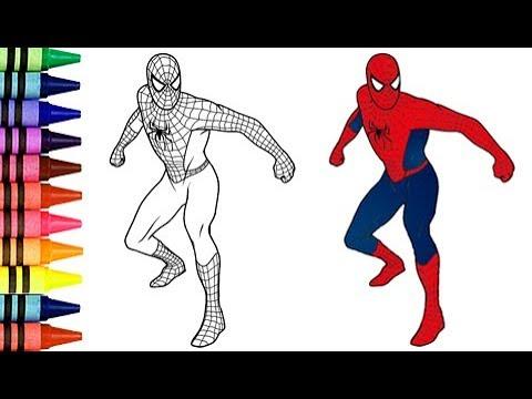 Como Dibujar Y Colorear Al Hombre Araña  3