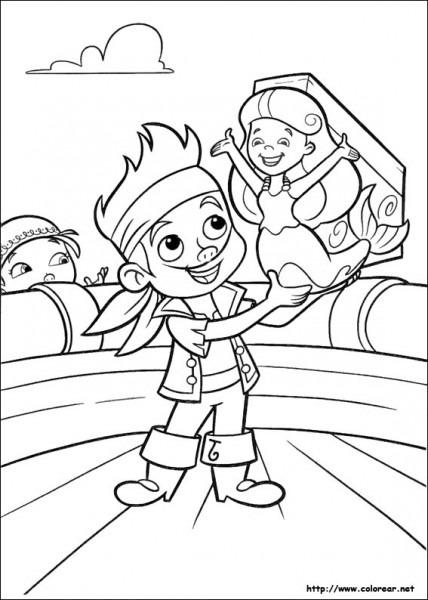 Dibujos De Jake Y Los Piratas Del País De Nunca Jamás Para