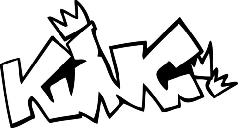 Dibujo De Grafiti King Para Colorear
