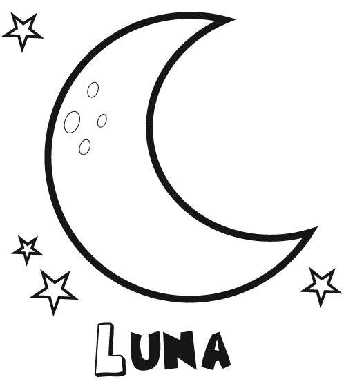 Dibujos Para Colorear De Media Luna