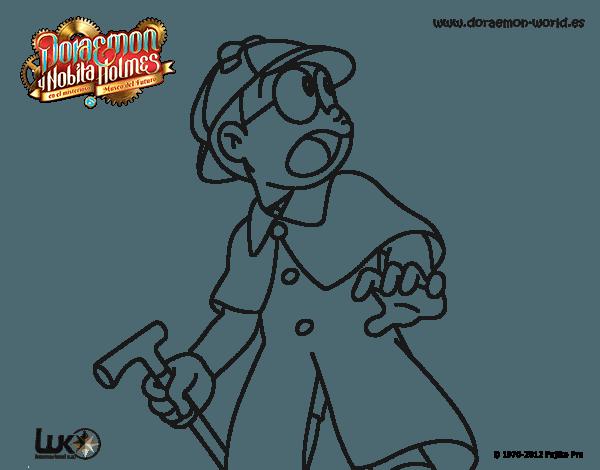 Dibujo De Nobita Holmes Para Colorear