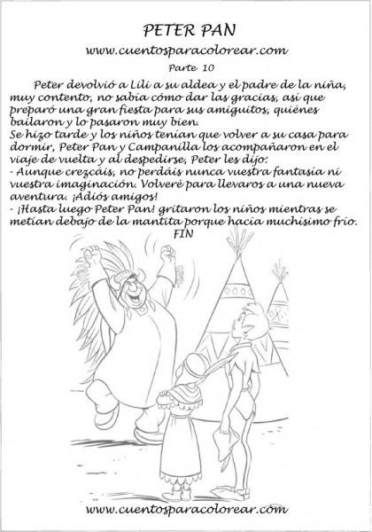 Cuento De Peter Pan Para Colorear