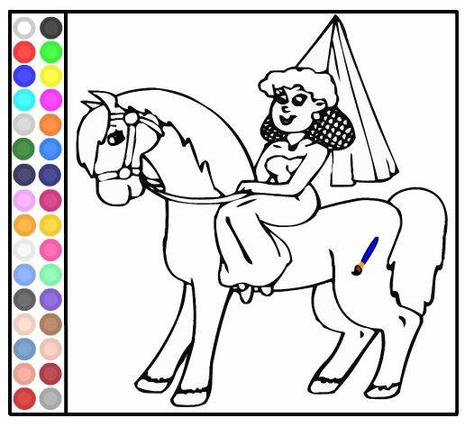 Pintar A La Princesa En Su Caballo