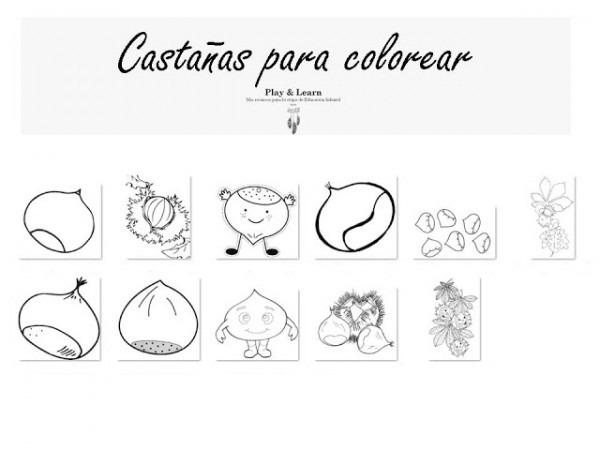 Play & Learn  Castañas Para Colorear
