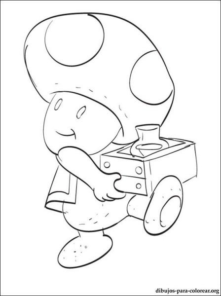 Dibujo De Toad De Mario Para Colorear