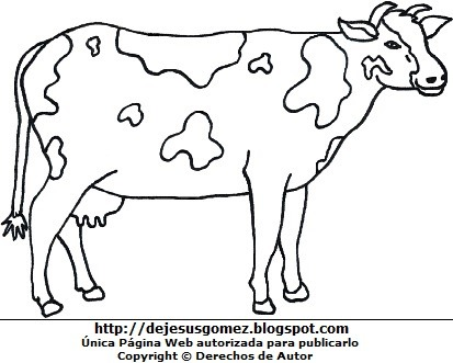 Dibujos Fotos Acrostico Y Mas  Dibujos De Vacas Para Colorear