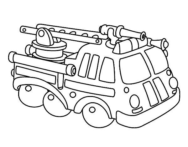 Dibujo De Camion Bomberos Pintado Por Somal En Dibujos Net El Día