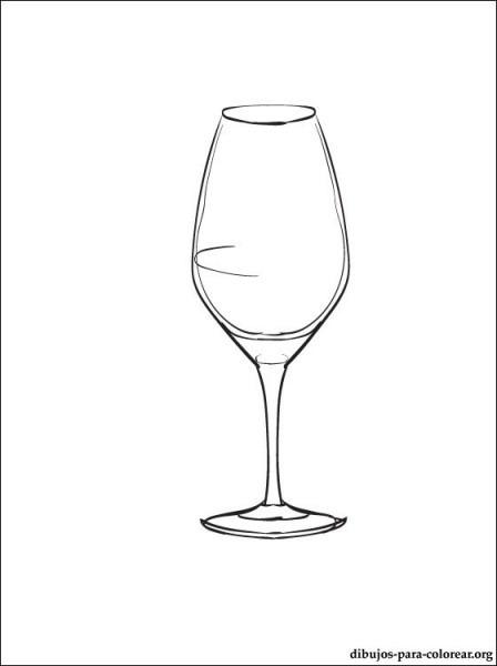 Dibujo De Copa De Vino Para Pintar