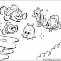 Personajes De Buscando A Nemo Para Colorear