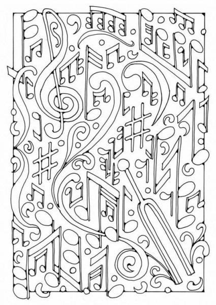 Dibujo Para Colorear Música  Ilustración