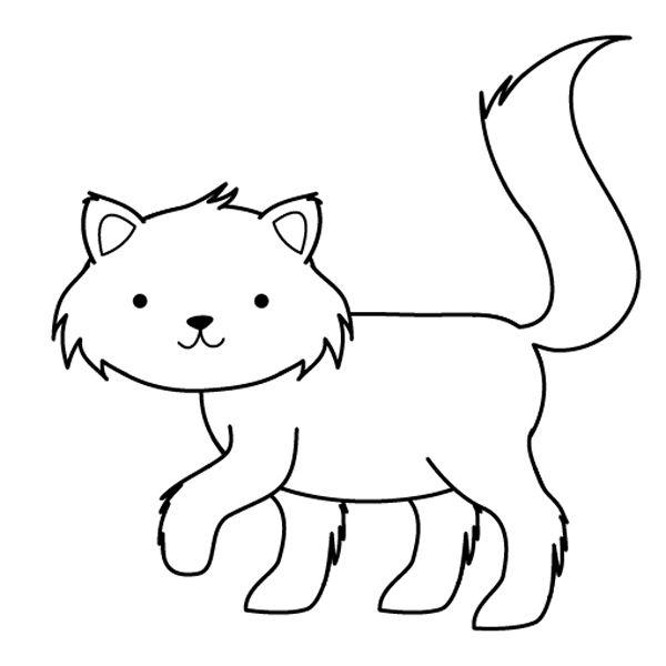 Gatito  Dibujo Para Colorear E Imprimir