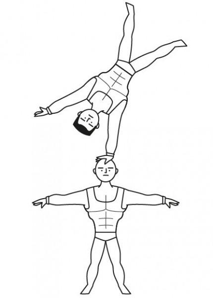 Circo Y Acróbatas  Dibujos Para Colorear E Imprimir