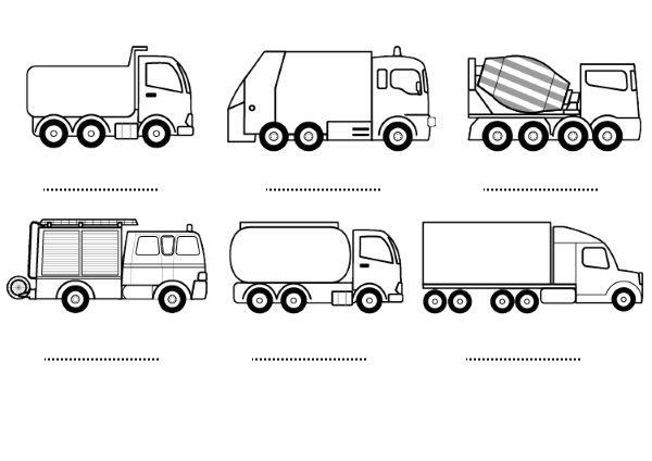 Camiones  Dibujos Para Colorear E Imprimir