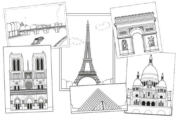 Monumentos De París  Dibujo Para Colorear E Imprimir