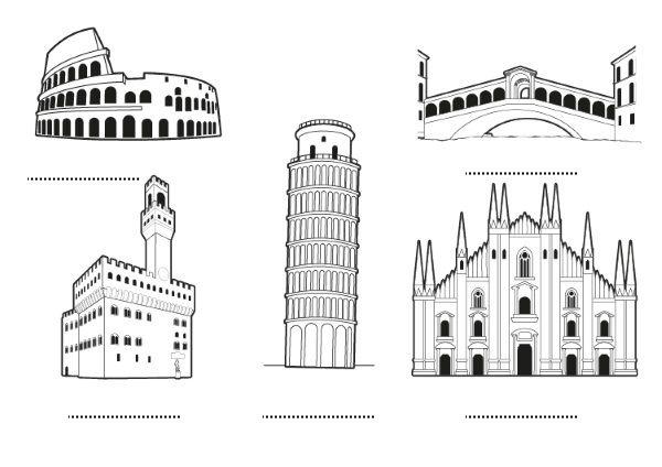 Italia  Dibujo Para Colorear E Imprimir