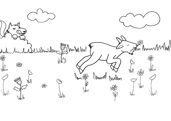 La Cabra Del Señor Seguin  Dibujo Para Colorear E Imprimir