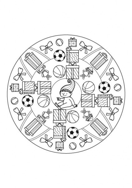 Mandala Regalo  Dibujo Para Colorear E Imprimir