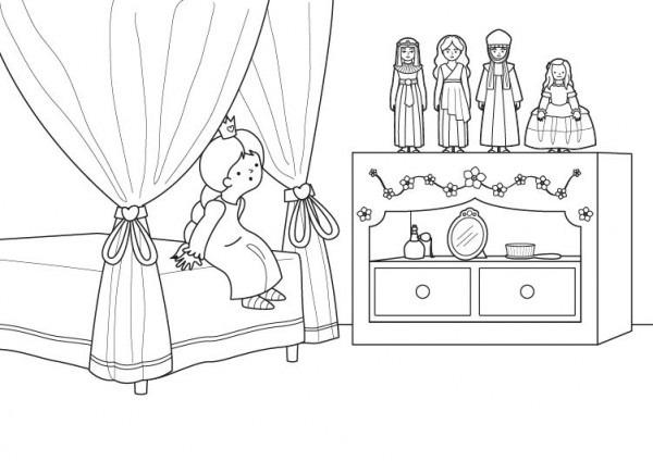 Muñecas De Princesas  Dibujo Para Colorear E Imprimir