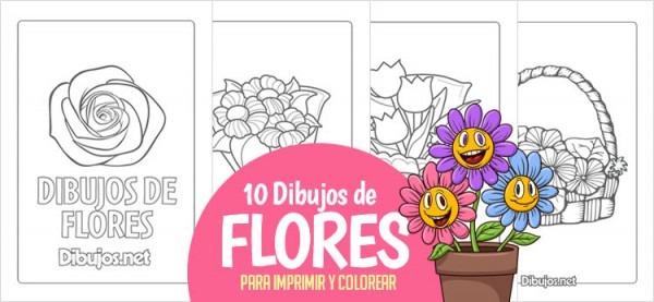 10 Dibujos De Flores Para Imprimir Y Colorear