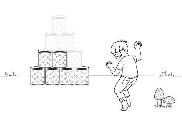 Juego Infantil  Dibujo Para Colorear E Imprimir