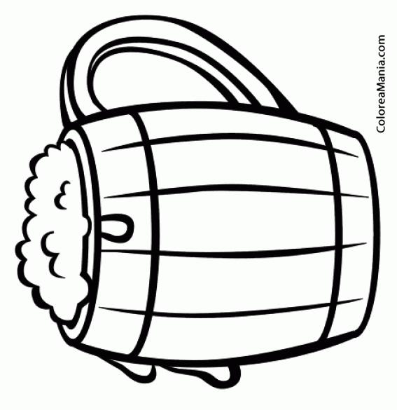 Colorear Jarra Cerveza (bebidas), Dibujo Para Colorear Gratis