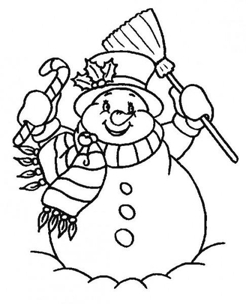 Muñeco Nieve Feliz