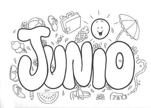 √ Imgenes Del Mes De Junio Dibujos Para Colorear