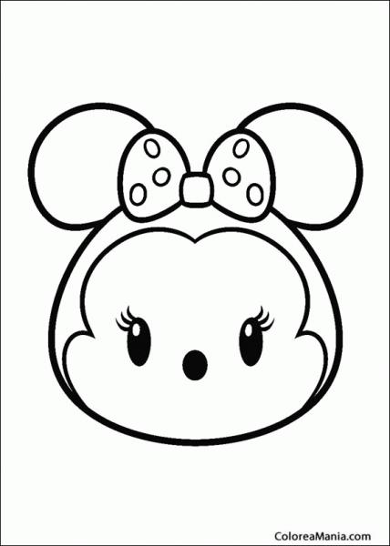 Colorear Tsum, Tsum Con Un Lacito De Puntos (tsum, Tsum), Dibujo