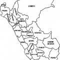 El Mapa Del Peru Para Colorear