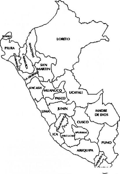 Mapadeperu Dibujo De Mapa De Peru Para Pintar Y Colorear Perumap