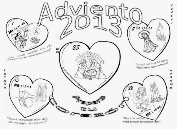 La Catequesis (el Blog De Sandra)  Calendarios Adviento 2013 Para