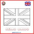Bandera Inglesa Colorear