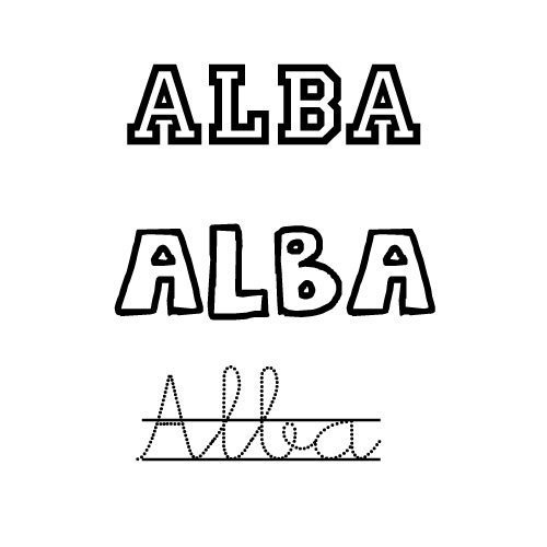 Dibujos Para Colorear Del Nombre Alba