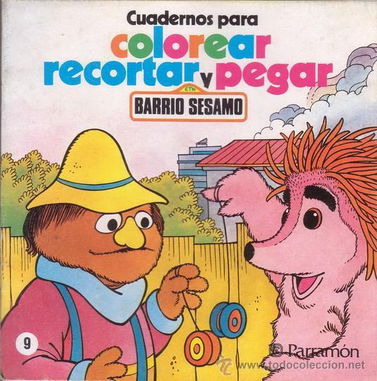 Barrio Sesamo  Cuadernos Para Colorear, Recorta
