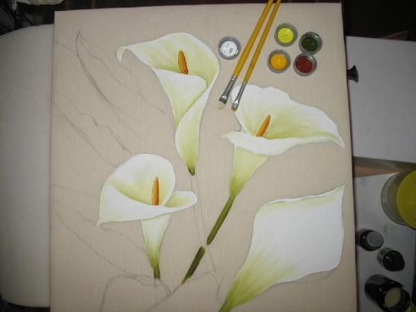 Dibujos De Calas Para Pintar En Tela