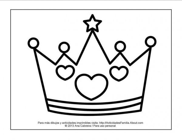 10 Dibujos De Princesas Para Imprimir Y Colorear  Corona Para