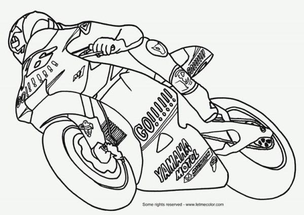 Coloring Page Moto Gp