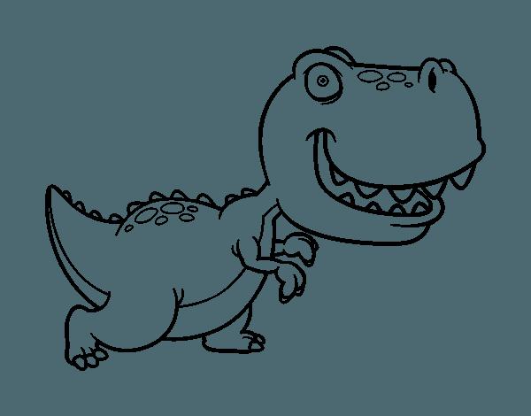 Dibujo De Tyrannosaurus Para Colorear