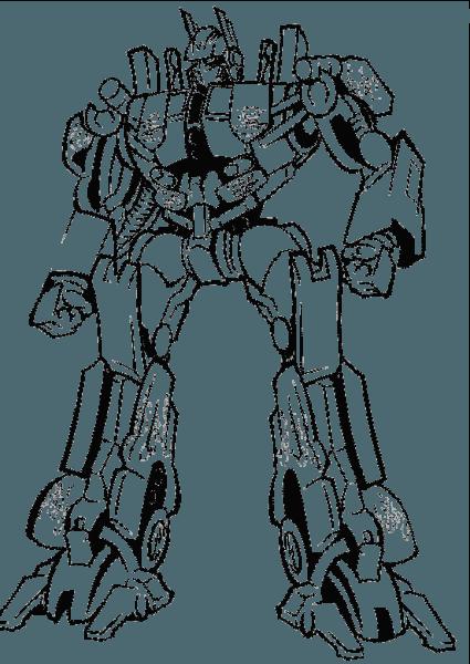 optimus prime colorear