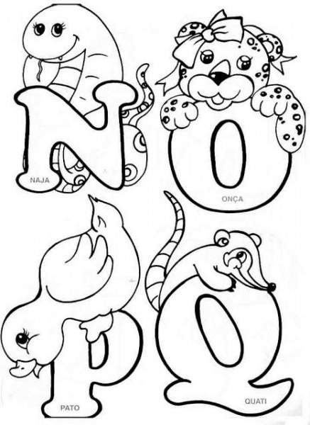Alfabeto De Animales Para Colorear