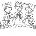 Dibujos Infantiles De Los Reyes Magos Para Colorear