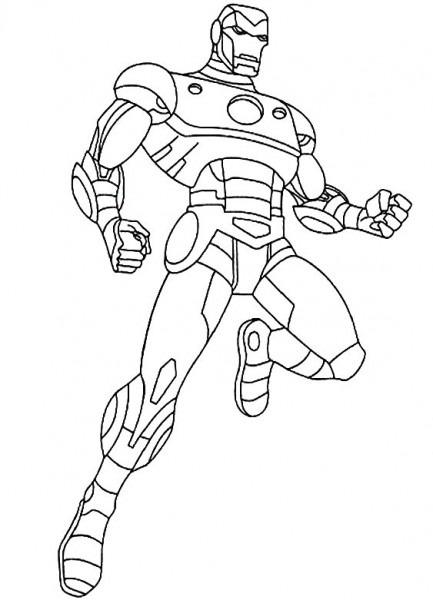 Los Vengadores , Dibujos Para Imprimir Y Colorear Lamina 3